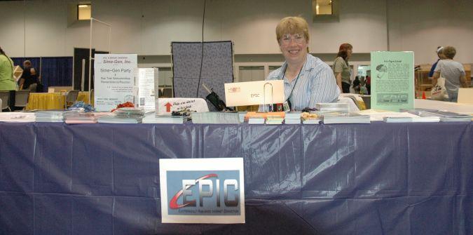 Kathy and EPIC display