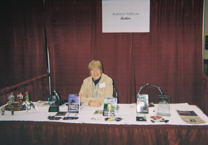 Kathy at booth