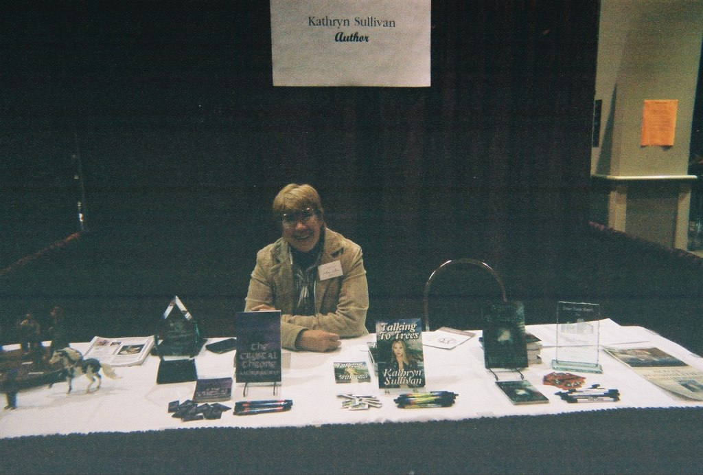 Kathy at booth again
