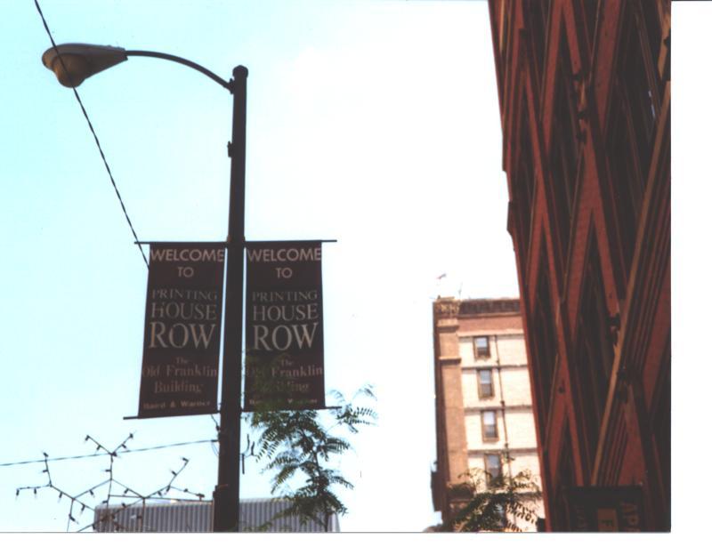 Printer's Row sign